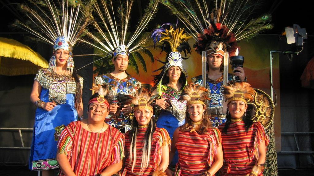Inca en Azteken indianen muziek en dans