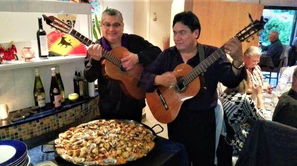 Spaans muziekduo spaanse gitarist