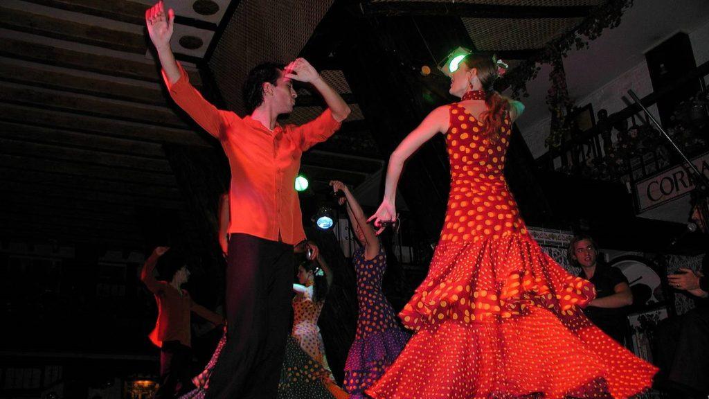 Spaanse danseressen flamenco los del sol