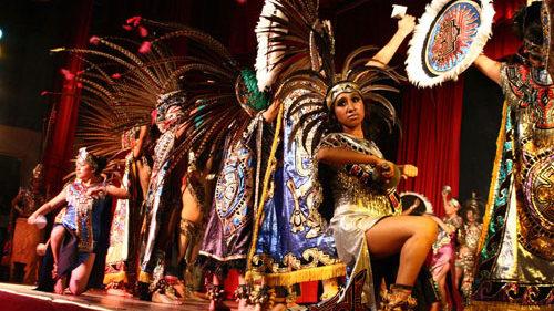 Azteken dansshow, Azteken indianen, Aztecas show