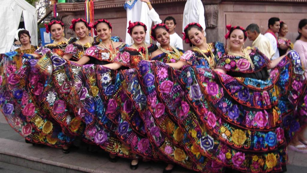 Mexicaanse dans, Mexicaanse dansgroep, Mexicaanse danseressen, Chiapas