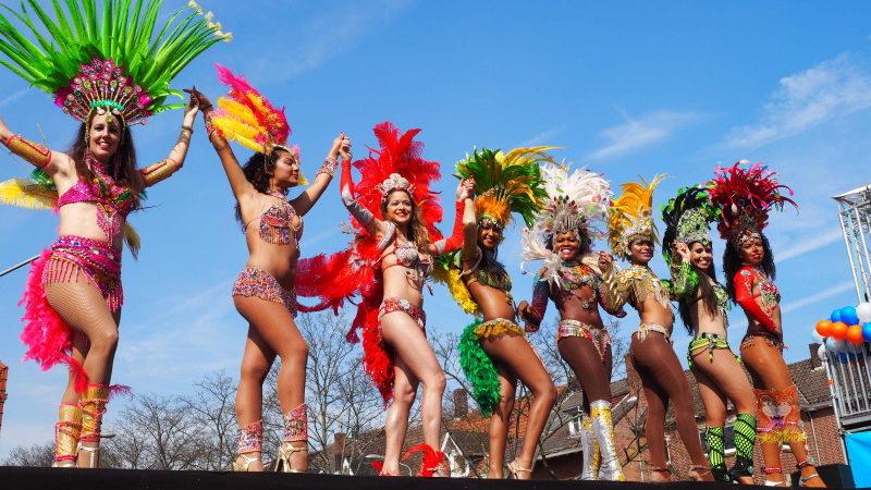 braziliaanse danseressen samba dancers los del Sol