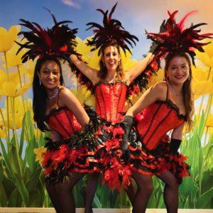 burlesque cancan los del sol, moulin rouge show, cancanshow, cancan danseressen
