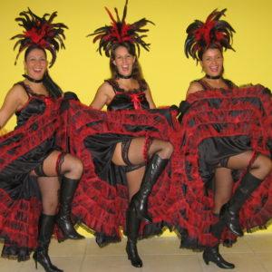 burlesque, cancan, los del sol, moulin rouge show, cancanshow, cancan danseressen