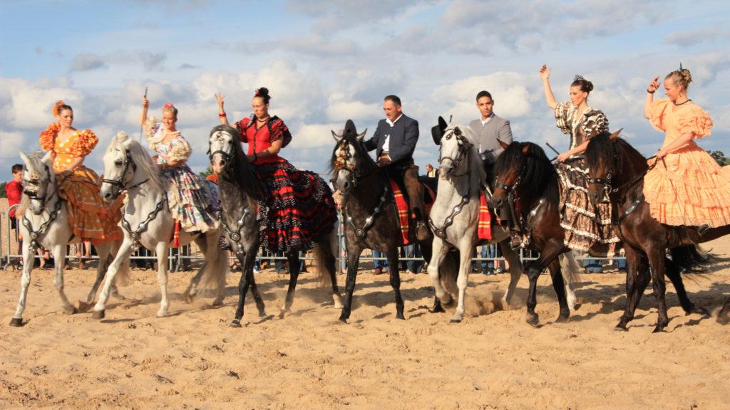 Spaanse paardenshow, paardenshow, andalousische paardenshow