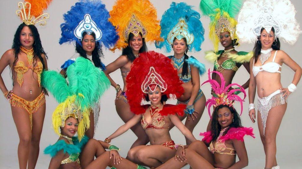 samba, Braziliaanse dansgroep, los del sol, Braziliaanse danseressen