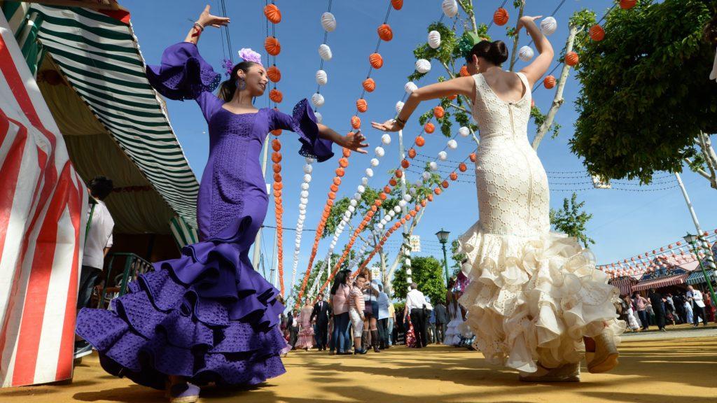 Spaanse danseressen, flamenco danseressen, flamingo, flamenco, sevillanas